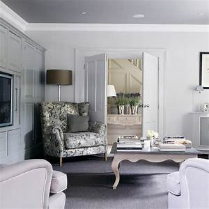Traditional grey and lilac living room Living room