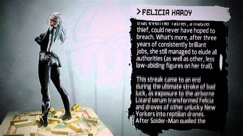 amazing spider man game character bios felicia hardy