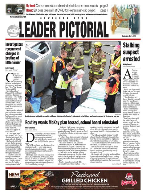 Cowichan News Leader Pictorial May 01 2019 By Black