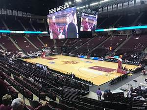 Reed Arena Seating Chart Section 102 At Reed Arena Rateyourseats Com