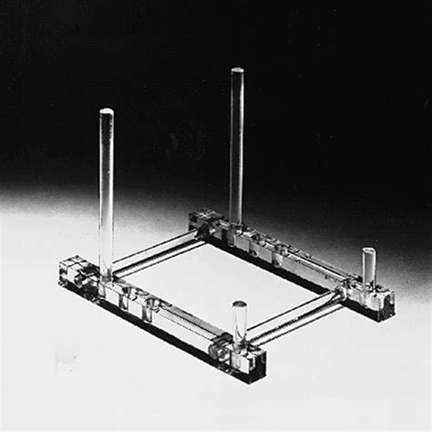 acrylic plate stand adjustable depth plate easels  stands