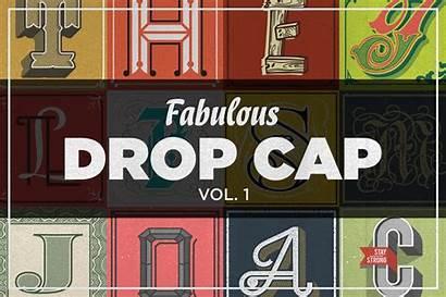 Drop Decorative Dropcap Cap Graphic Fabulous Vector