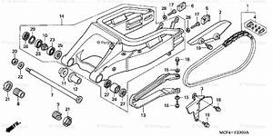 Honda Motorcycle 2001 Oem Parts Diagram For Swingarm   U0026 39 00