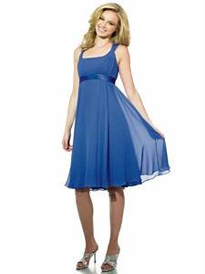 USD$135.59 - Cobalt Bridesmaid Dresses Knee Length Chiffon ...