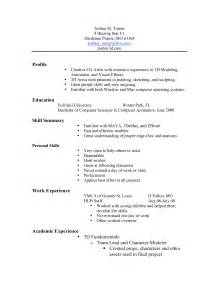 profile resume exle skills exles sheets tin lowes