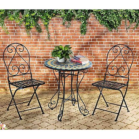 mosaic bistro table and chairs mosaic bistro 3 piece outdoor table and chairs set bed