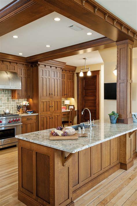craftsman kitchen restoration design   vintage