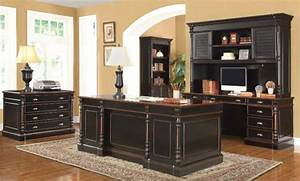 Stylish Black Executive Desk Idea For Your Office