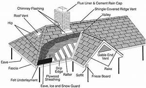 Roof Anatomy Diagram Showing Areas Of Penetrations And