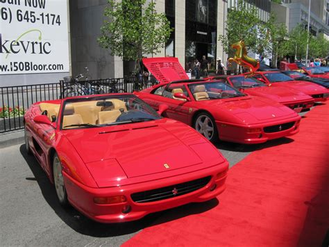 Red Cars, Red Carpet  Ferraris At The Yorkville Exotic