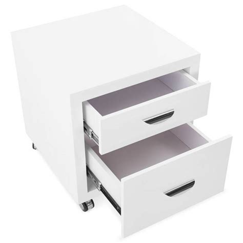 caisson bureau blanc laqué caisson de bureau 2 tiroirs forest en bois blanc laqué