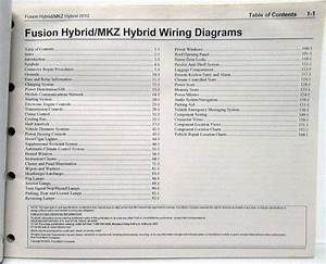 2012 Ford Fusion  U0026 Lincoln Mkz Hybrids Electrical Wiring