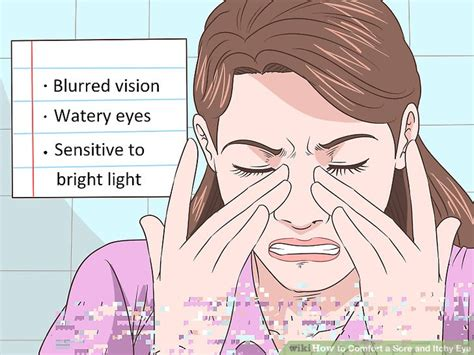 why are my eyes so sensitive to light 3 ways to comfort a sore and itchy eye wikihow