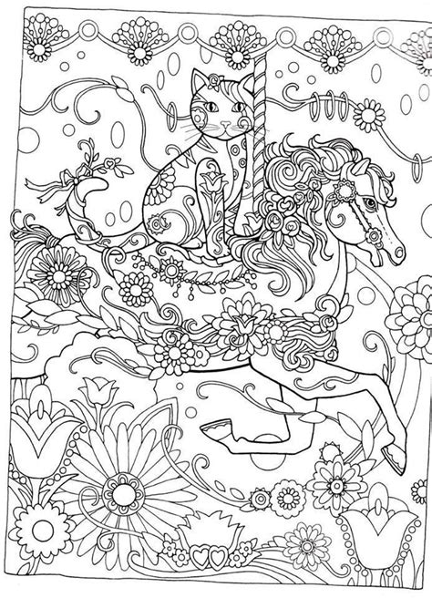 zentangle cat woman google suche coloring pages