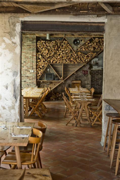 restaurant bar design ideas a modern rustic restaurant in design sponge Rustic