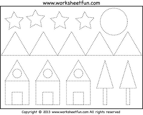 free picture tracing shapes pre k amp kindergarten not 282 | 5fec77632d685534c1161f6793c8aa30