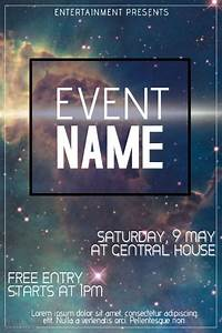 galaxy event flyer template | PosterMyWall