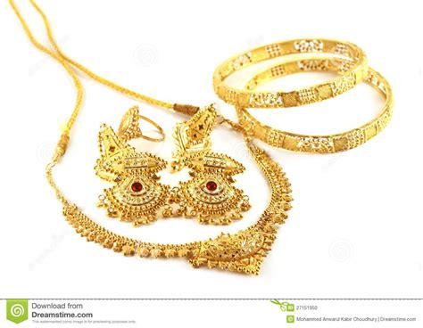 wedding gold jewelry  indian bride stock photo image