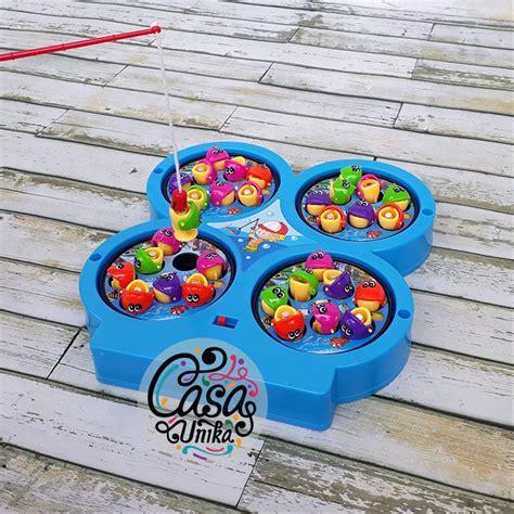 jual mainan pancing pancingan ikan magnet 4 kolam fishing 685 10 di lapak casa unika