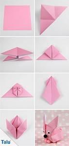 Origami Für Anfänger : origami hase falten faltanleitung f r einen papierhase ~ A.2002-acura-tl-radio.info Haus und Dekorationen