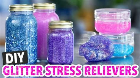 gilttery diy stress relievers  great  adults