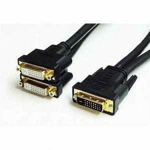 Tera Grand Dual Link Dvi Male To 2 Dvi Female Cable Dvi