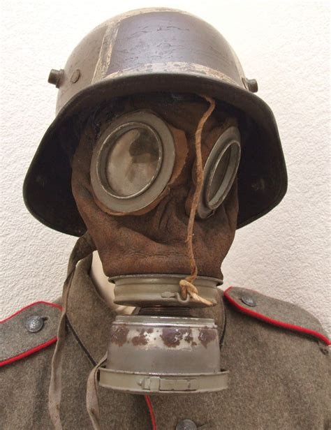 german model  gas mask