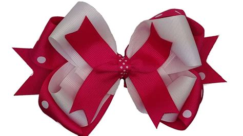 How To Make Stacked Hair Bows Youtube