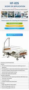 Hospital Furniture Medical Equipment 2 Cranks Manual