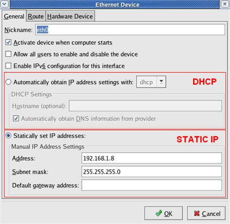 How To Change Ip Address On Linux Redhat
