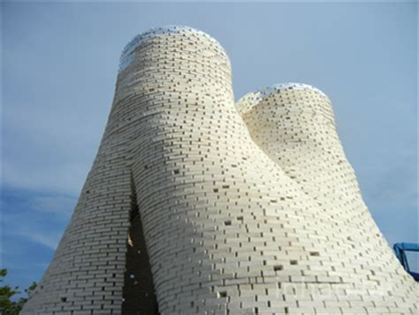 tower   organic mushroom bricks opens  moma ps