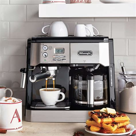 Finding a good coffee and espresso machines is no easy task for most, especially if it's your first one. De'Longhi Combination Pump Espresso and 10-Cup Drip Coffee Machine with Advanced Cappuccino ...