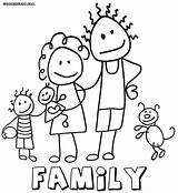 Coloring Pages Family6 Coloringway sketch template