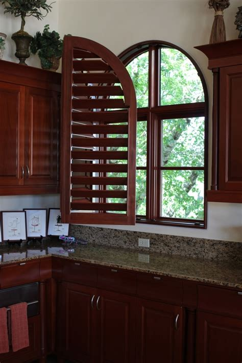 awf arched plantation shutters images