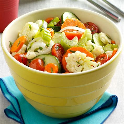 marinated fresh vegetable salad recipe taste of home