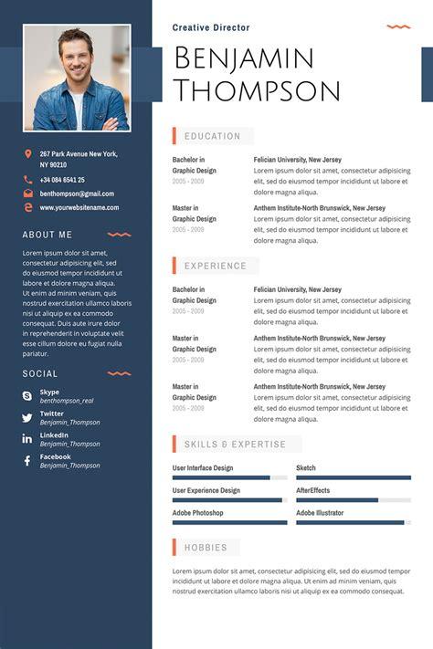 premium benjamin thompson multipurpose elegant resume