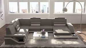 Couchgarnitur U Form : design wohnlandschaften leder designer sofa wohnlandschaften online ~ Orissabook.com Haus und Dekorationen