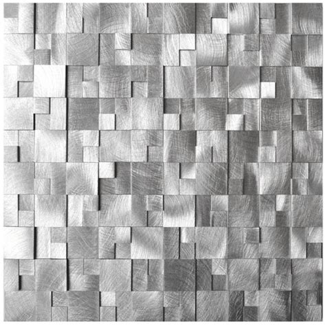 stainless steel kitchen backsplash tiles mosaic tile 3d raised cobblestone pattern aluminum