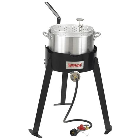 bayou classic 174 22 quot outdoor fish cooker with fry pot
