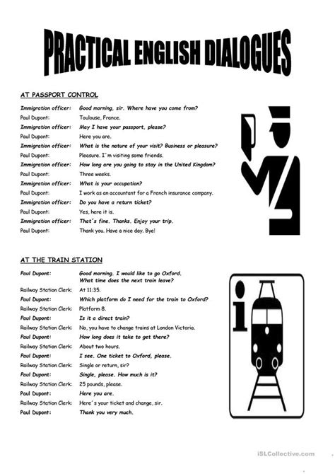 practical english dialogues worksheet  esl printable