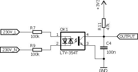 Mains Esp Line Voltage Detection Schmitt Trigger
