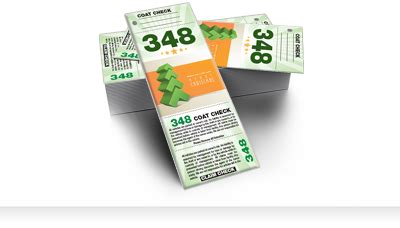 Custom Valet & Parking Tickets, Coat Check Tickets