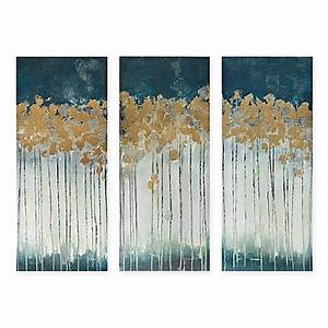 madison park midnight forest 3 piece canvas wall art bed With best brand of paint for kitchen cabinets with childrens wall art canvas