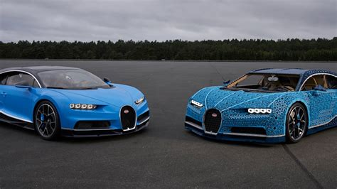 The lego bugatti chiron is fully functional and can fit two passengers inside. Life-size Lego Technic Bugatti Chiron really drives   Autoblog