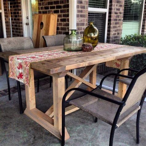 farmhouse patio table check out this amazing diy farm table on the patio build