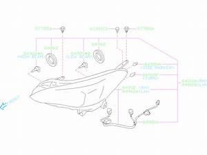 Subaru Crosstrek Cord Assembly  Head Lamp Unit  Halogen