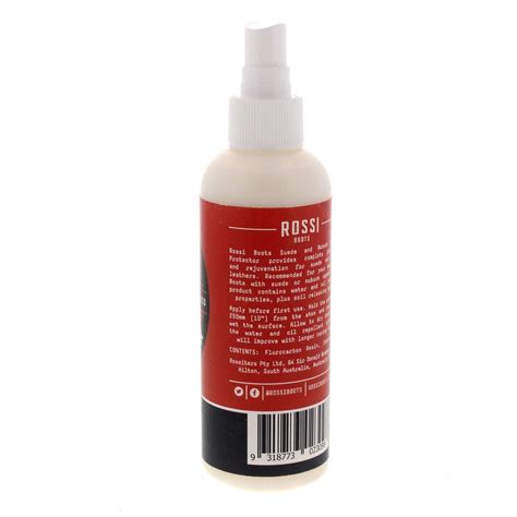 Rubber Boot Protector Spray by Rossi Suede And Nubuck Protector 200ml Rossi Boot Spray