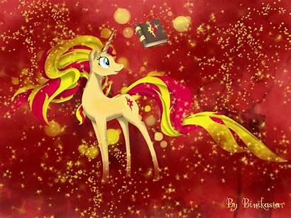 Shimmer Sunset Attempt Deviantart Unicorn Pony Cupcakes