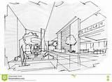 Lobby Sketch Perspective Interior sketch template