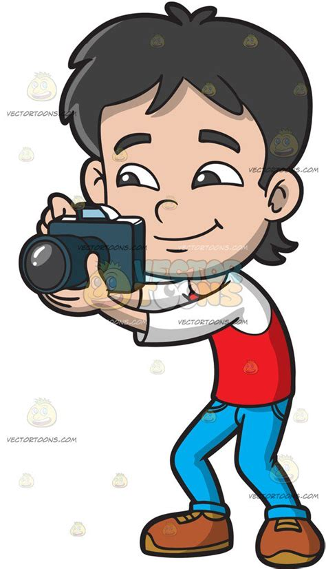13237 photographer taking a picture clipart a boy taking pictures clipart by vector